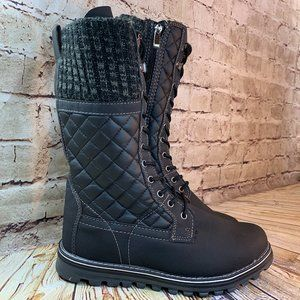 Polar Womens Gray Winter Mid Calf Boots Size 9